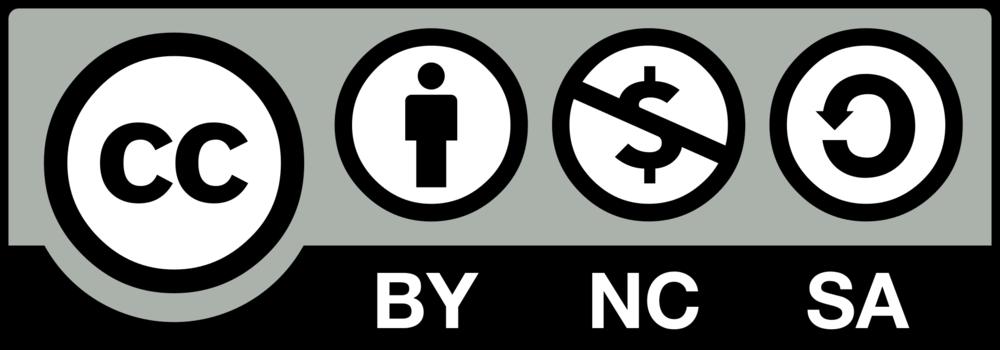 Logo der creative-commons-Lizenz BY-NC-SA